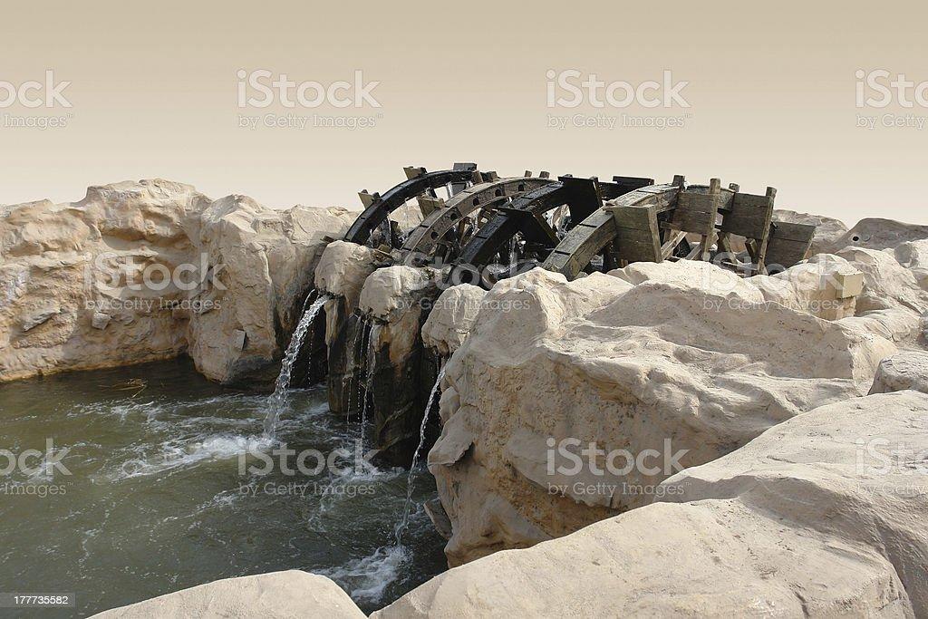 historic water wheel stock photo