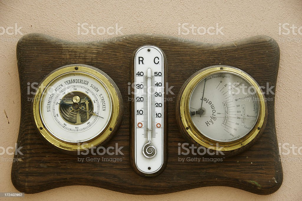 Historic weather instruments royalty-free stock photo