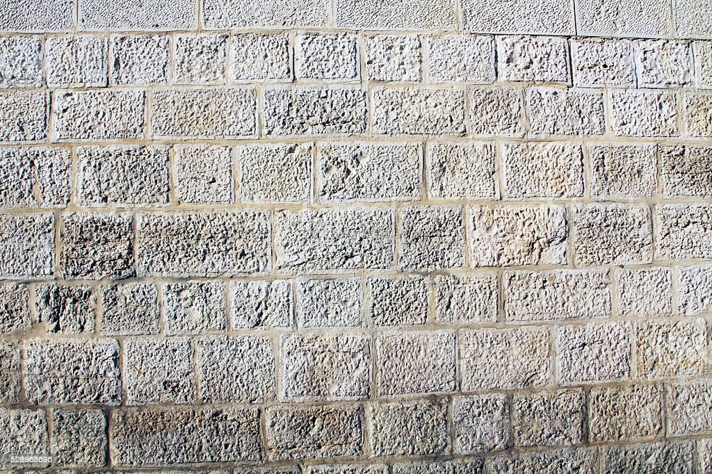 Historic Weathered Wall in Israel stock photo