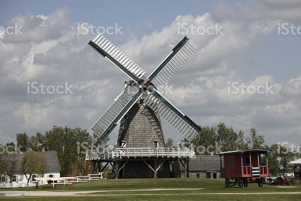 Historic Windmill in Steinbach Manitoba stock photo