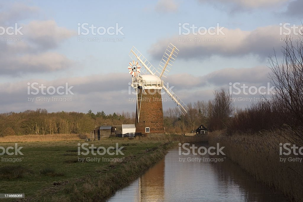 Historic windpump stock photo