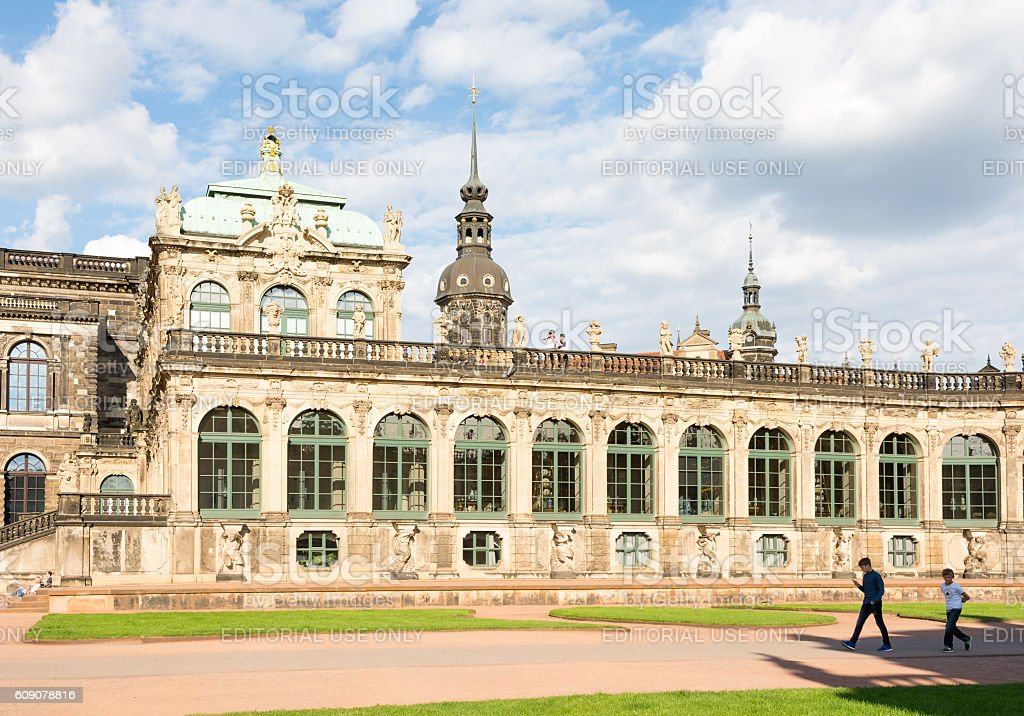 Historic Zwinger palace in Dresden stock photo