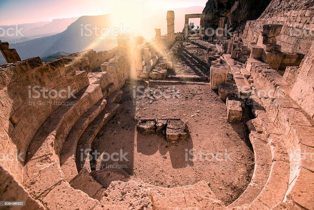 Historical Alahan Monastery. stock photo