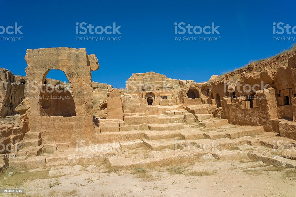 Historical ancient City of Dara ruins at nusaybin mardin turkey stock photo