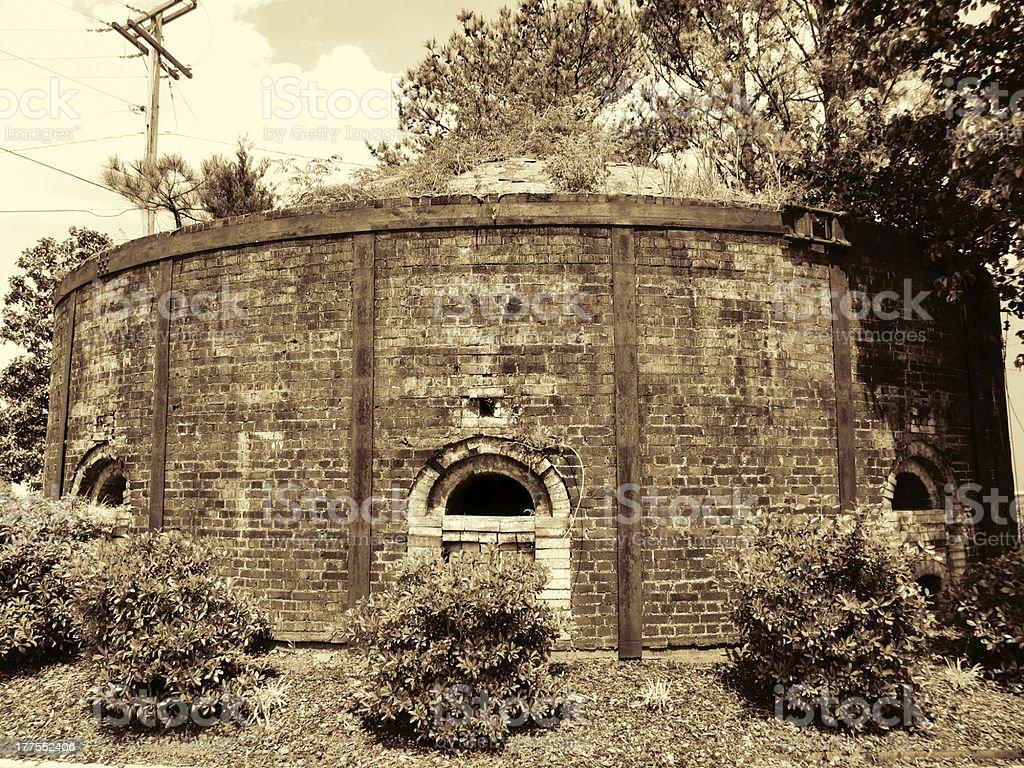 Historical Antique Brick Firing Kiln Decatur Alabama USA stock photo