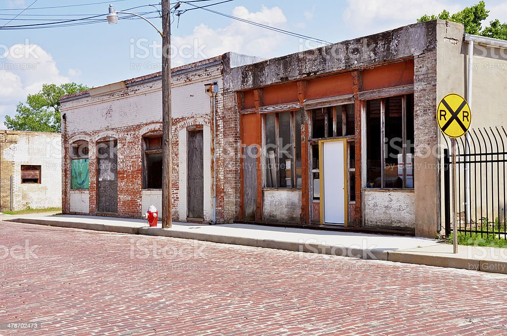 Historical area in Downtown Tyler, Texas stock photo