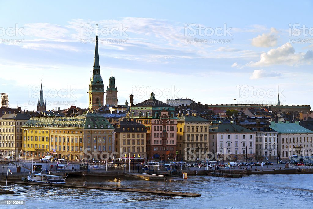 Historical area of Stockholm royalty-free stock photo