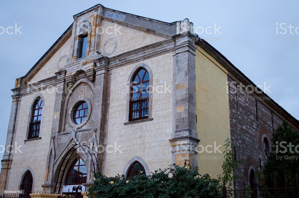 Historical Armenian Church, Old Armenian Cathedral in Turkey stock photo