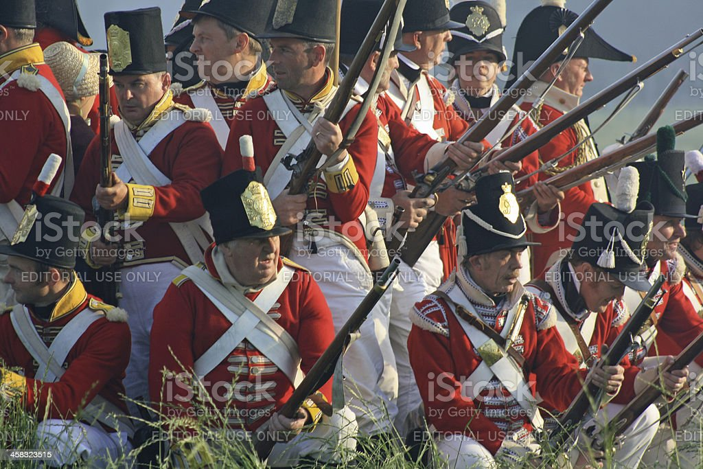 Historical Battle at Waterloo stock photo