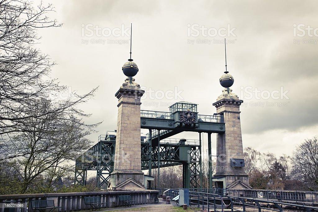 historical boat lift Henrichenburg in Waltrop Germany stock photo