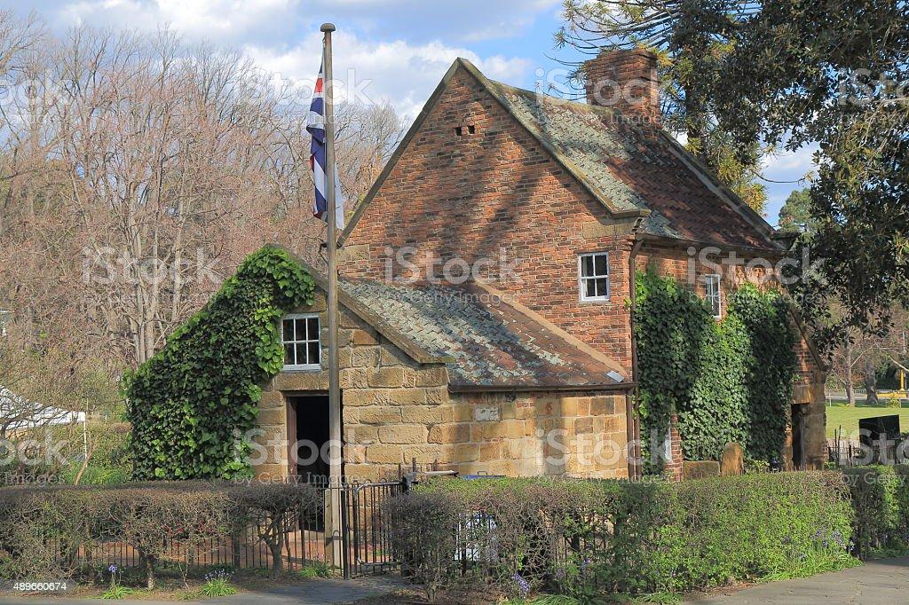 Historical building Cook's cottage Melbourne Australia stock photo