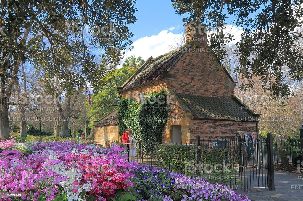 Historical building Fitzroy garden Melbourne Australia stock photo