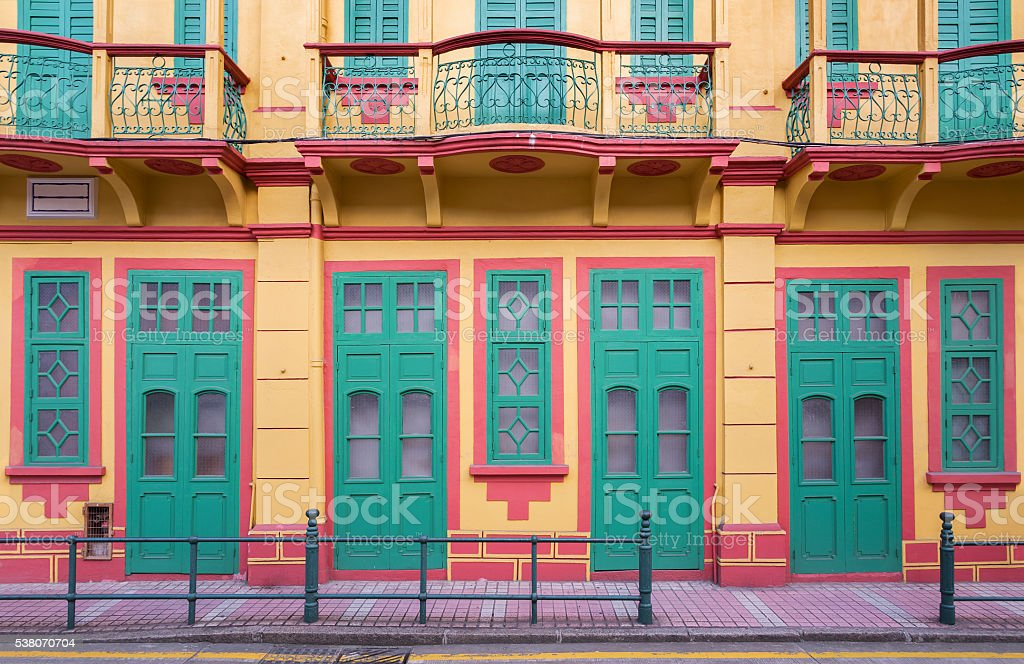 Historical building in Macau, China stock photo