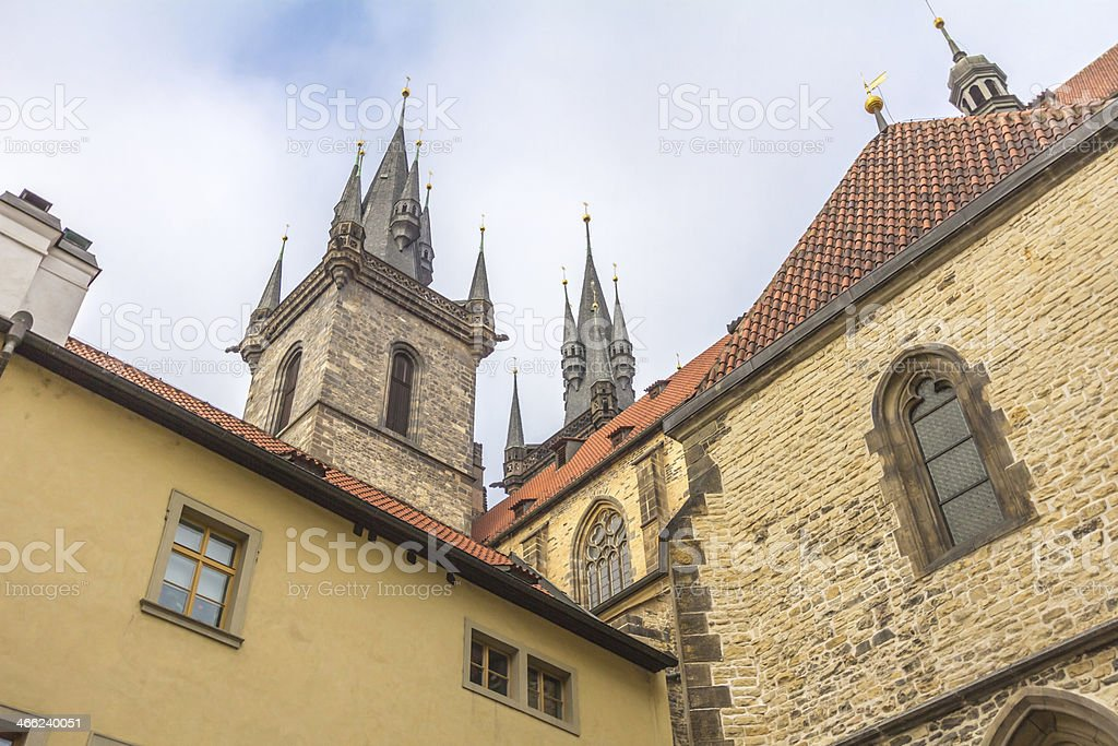 historical building in prague royalty-free stock photo