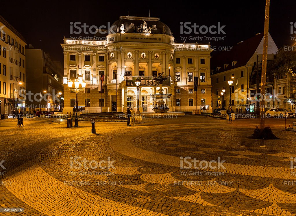 Historical building of the Slovak National Theatre stock photo