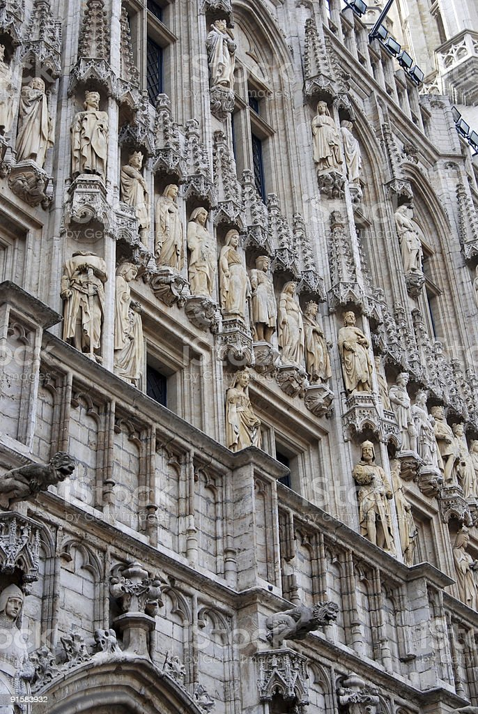 Historical building on the grand place in brussels royalty-free stock photo