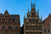 Historical buildings at Ghent downtown in belgium