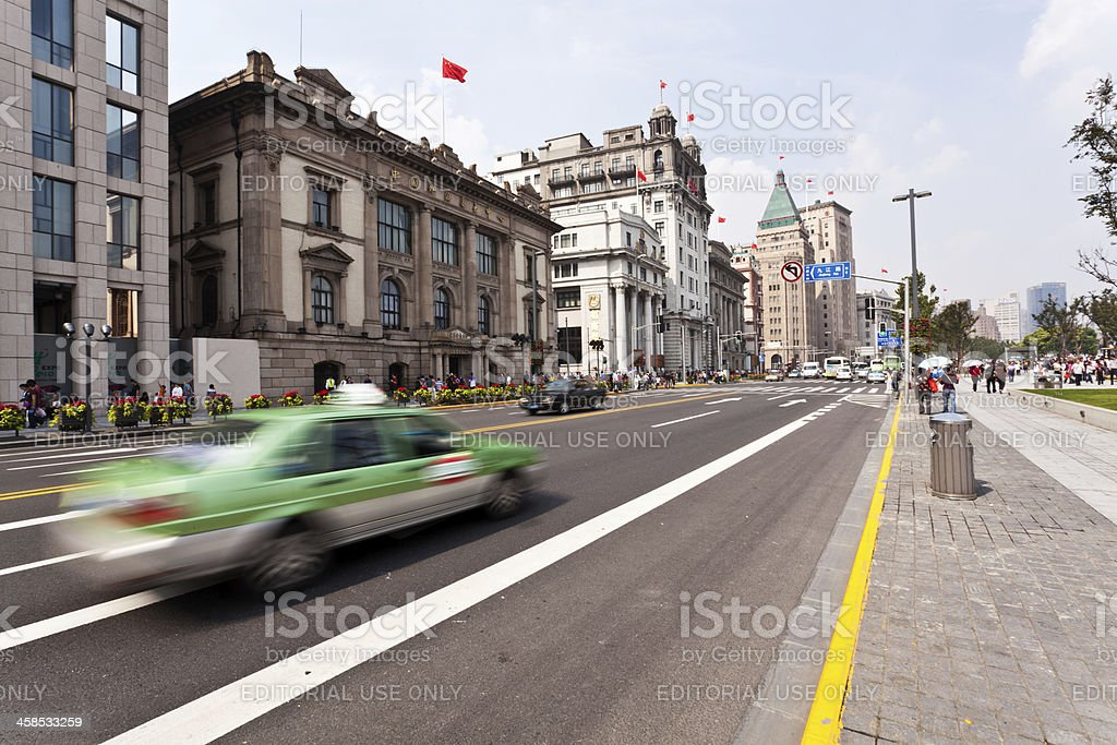 Historical buildings at the Bund in Shanghai royalty-free stock photo