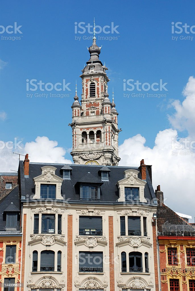 Historical Buildings in the city of Lille (france) royalty-free stock photo