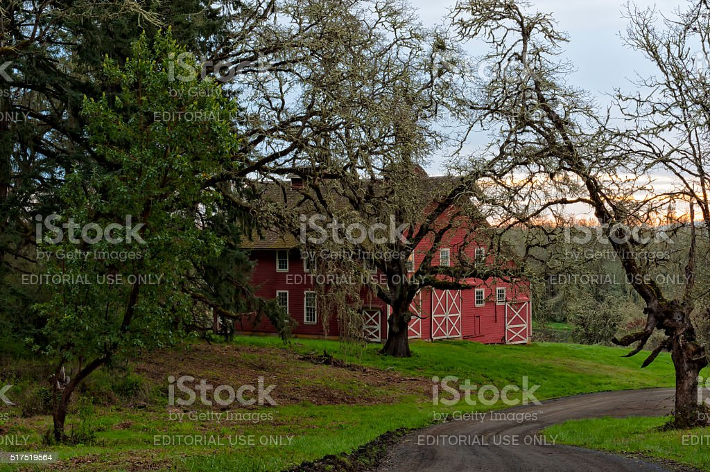 Historical Cabell Barn stock photo