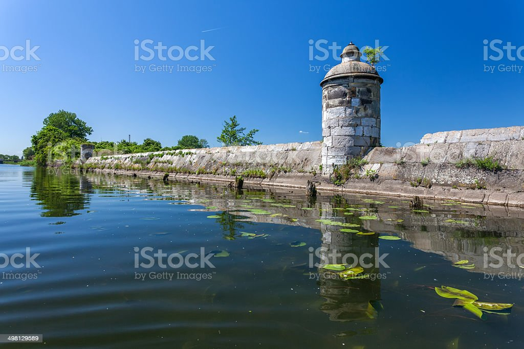 Historical canal with the sluice in Gdansk royalty-free stock photo