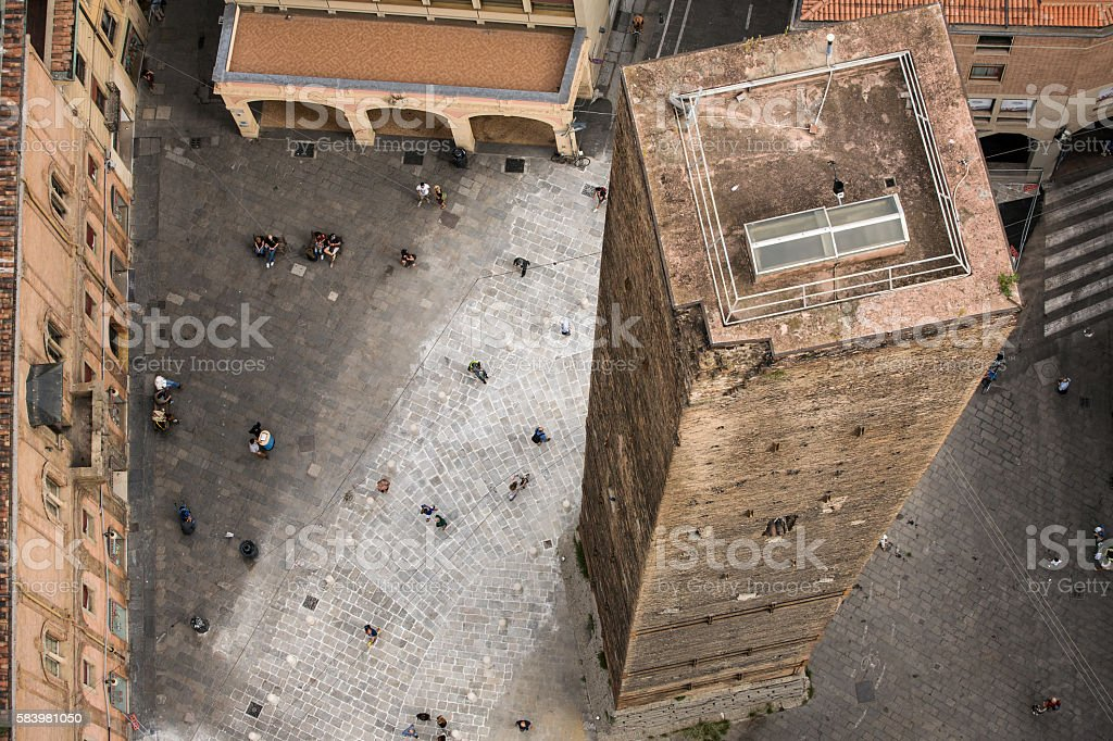 Historical center of Bologna, Italy stock photo