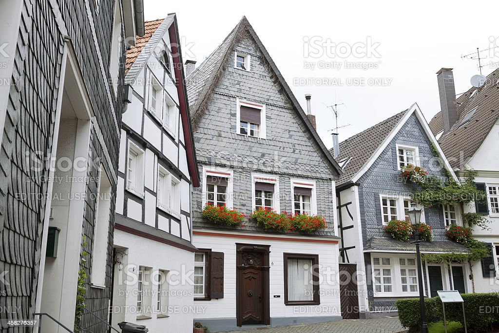 Historical center of Kettwig royalty-free stock photo