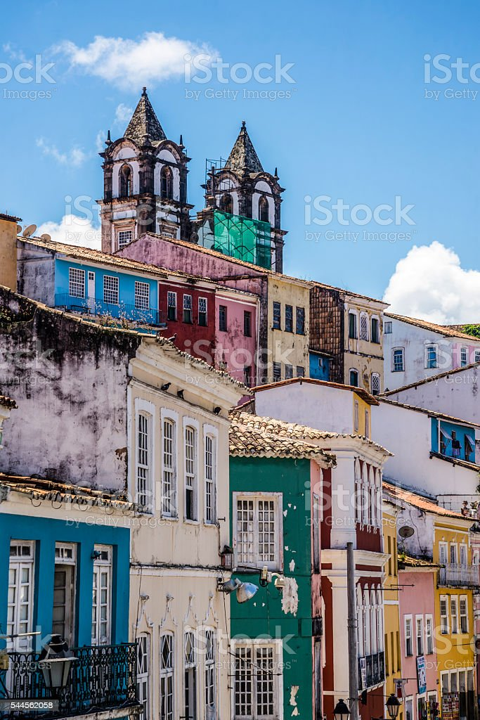 Historical centre Pelourinho, Salvador, Bahia, Brazil stock photo