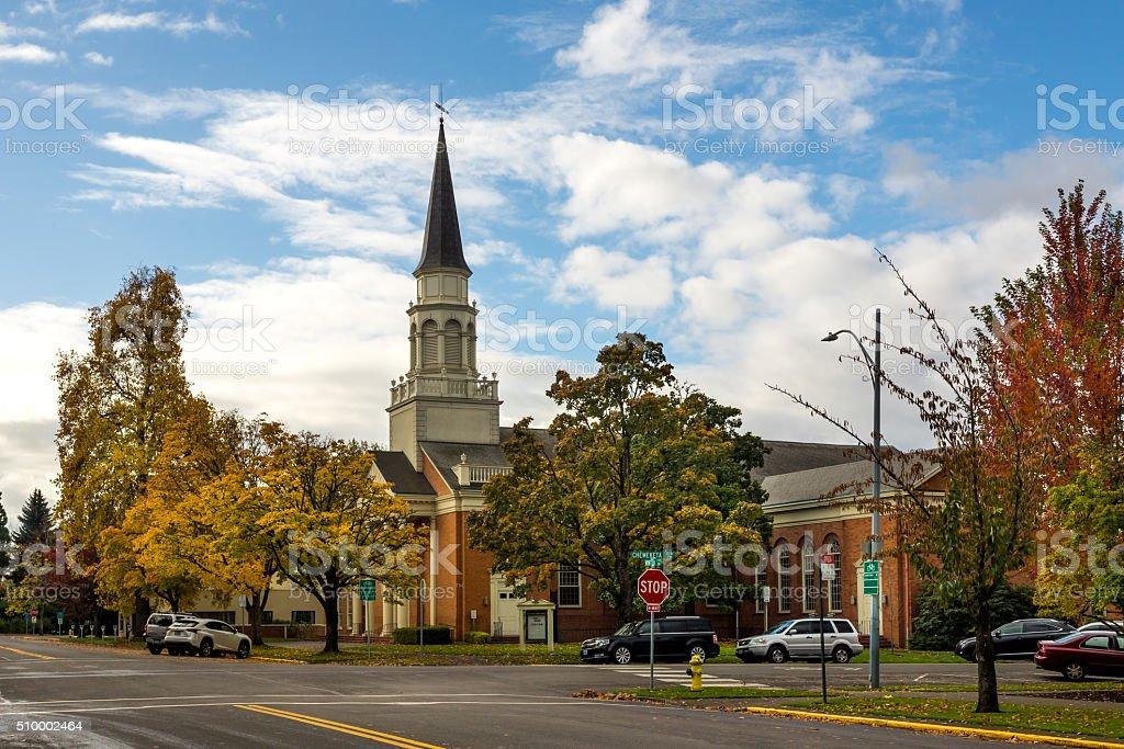 Historical Church building stock photo