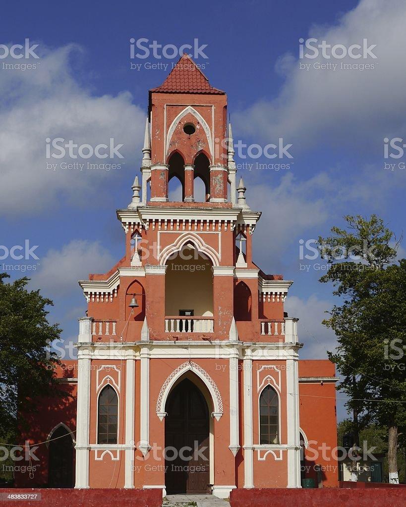 historical church yucatan mexico san ignacio stock photo