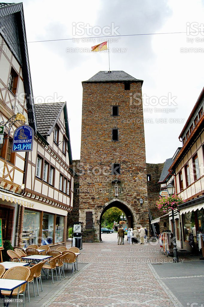 Historical city center of Bad Neuenahr-Ahrweiler stock photo