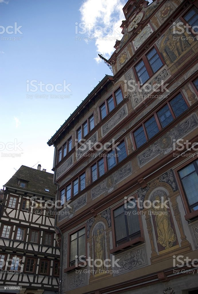historical city hall in germany royalty-free stock photo