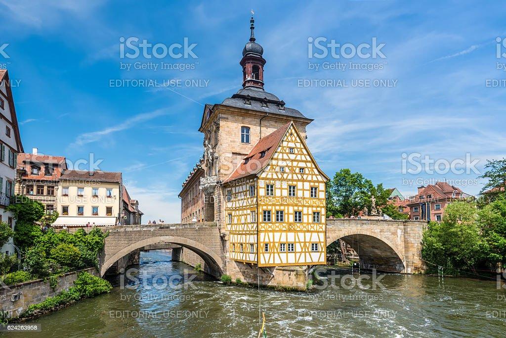 Historical city hall of Bamberg stock photo