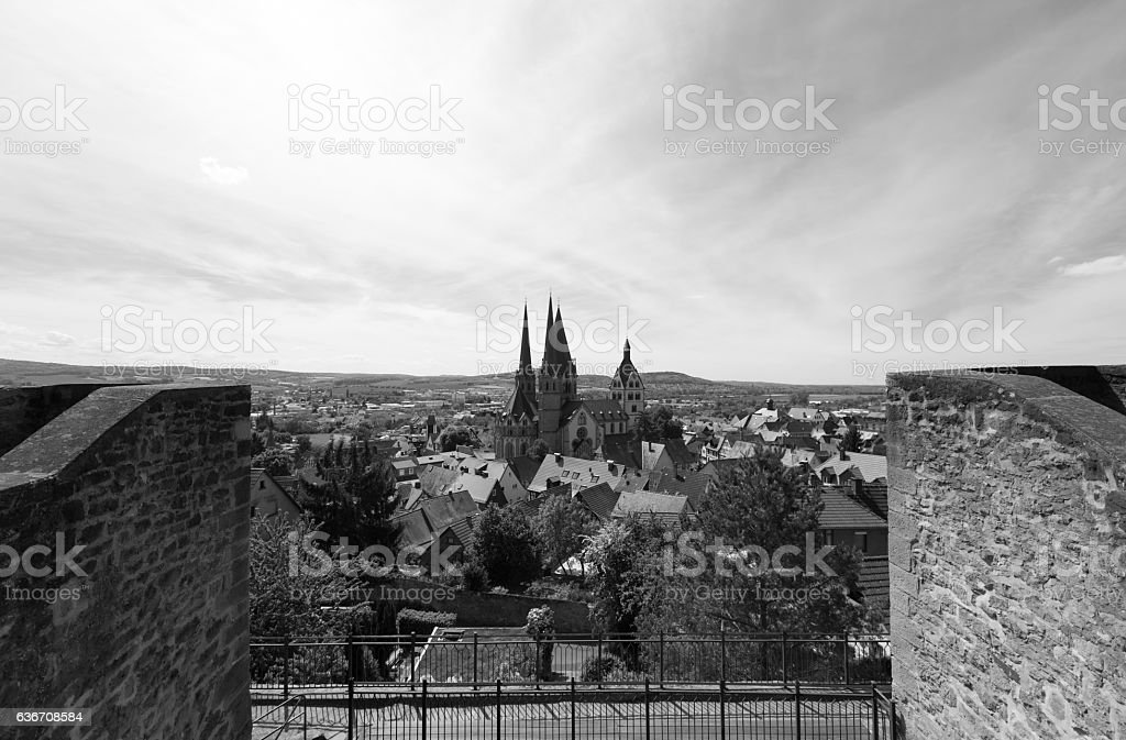 Historical City of Gelnhausen, Hesse, Germany stock photo