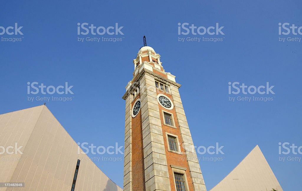 Historical Clock Tower - Hong Kong royalty-free stock photo