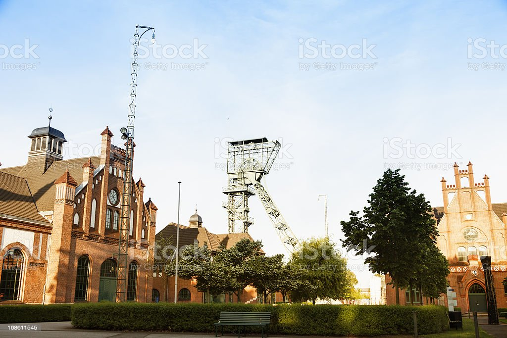 historical coal mine Zeche Zollern in Dortmund stock photo