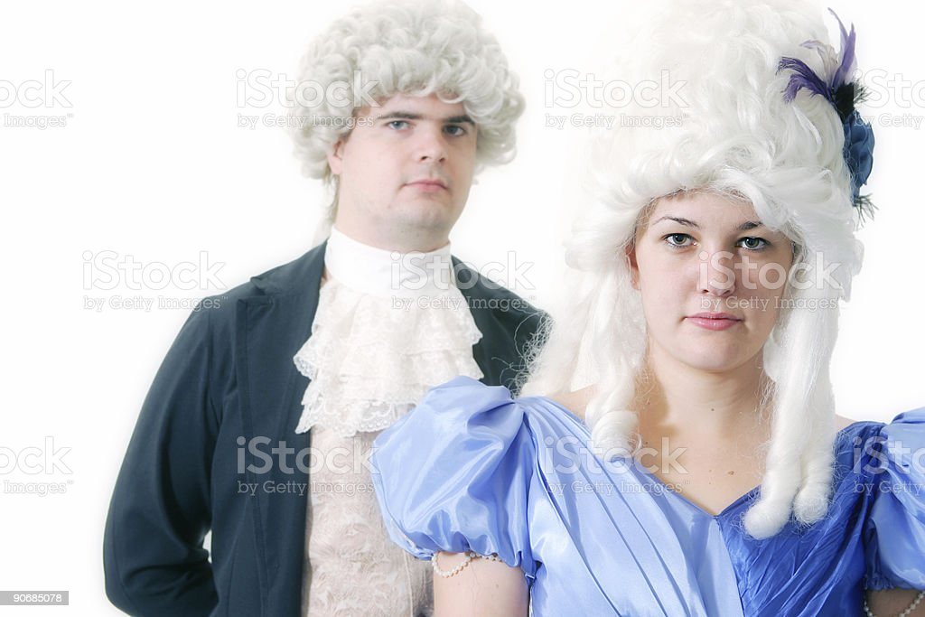 Historical Couple royalty-free stock photo