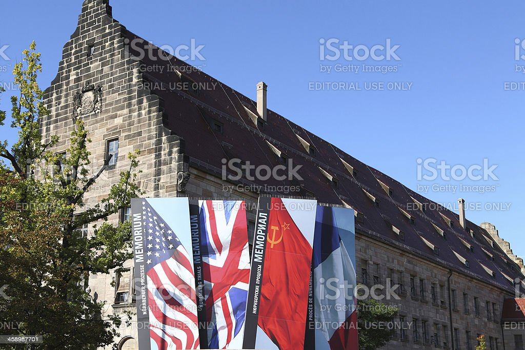 historical courthouse - Museum Memorium Nuremberg Trials stock photo
