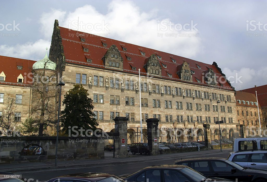 historical courthouse - The Nuremberg Trials stock photo