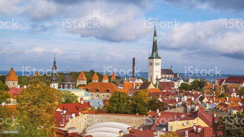 Historical distric in Tallinn, Estonia stock photo
