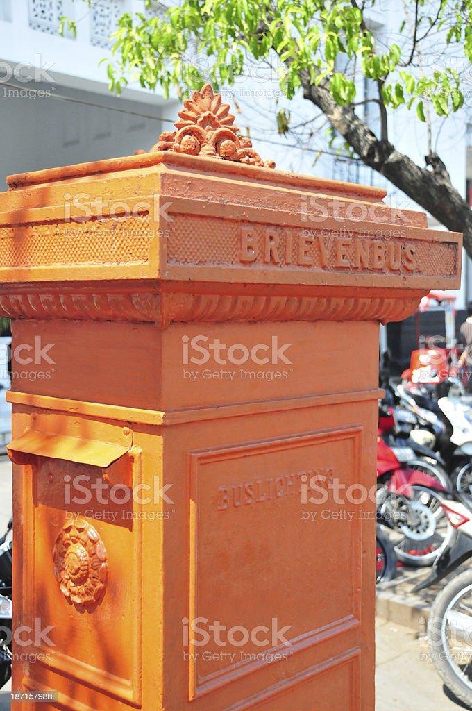 historical Dutch postbox royalty-free stock photo