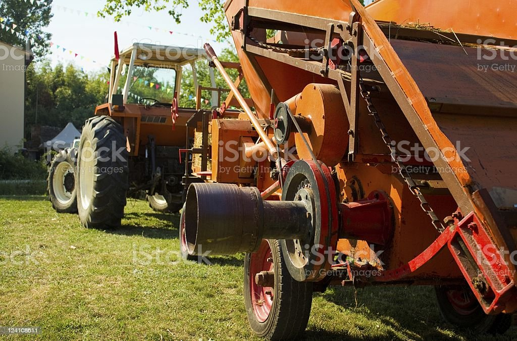Historical farm machines royalty-free stock photo