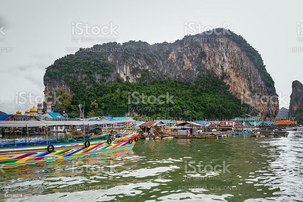 Historical floating Koh Panyi settlemen, Thailand foto royalty-free