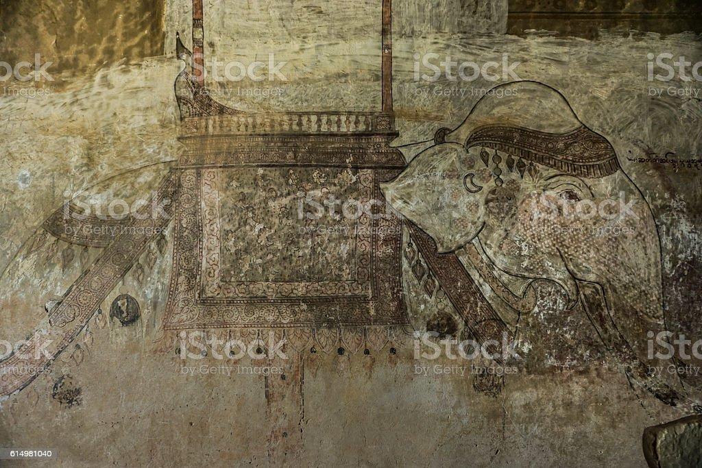Historical frescoe stock photo