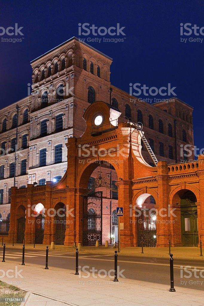Historical Gate of Factory stock photo