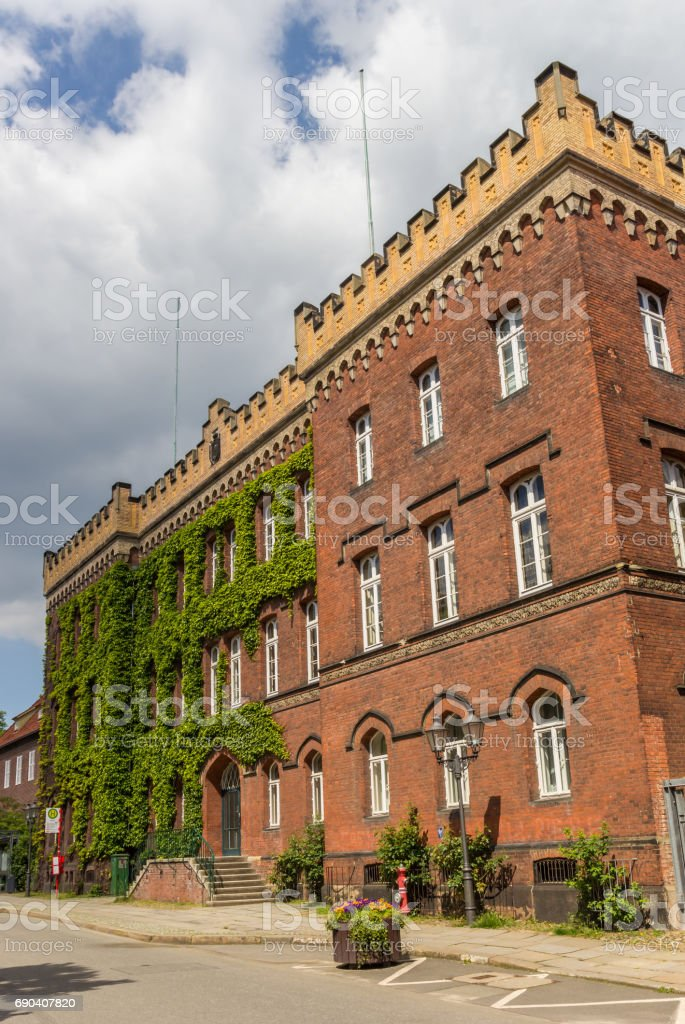 Historical government building Amtsgericht in Luneburg, Germany stock photo