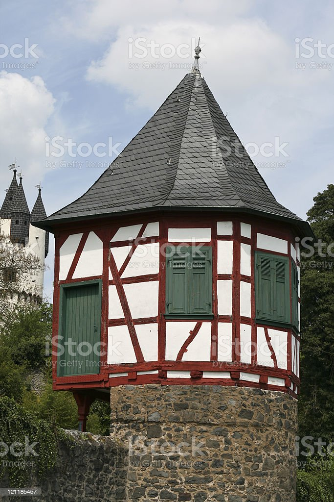Historical guard tower stock photo