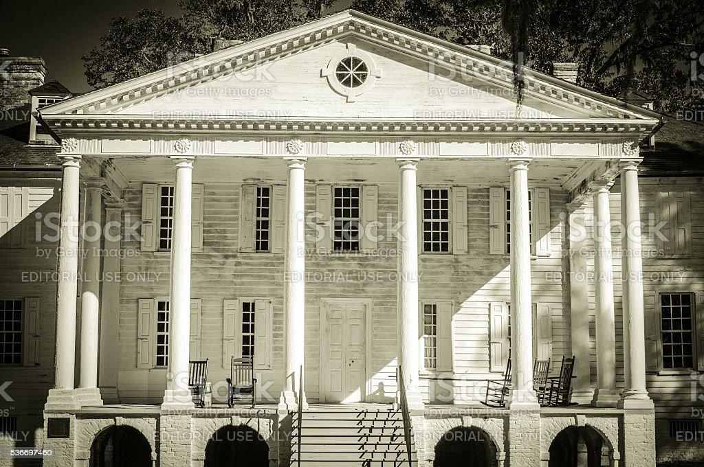 Historical Hampton Plantation In South Carolina stock photo