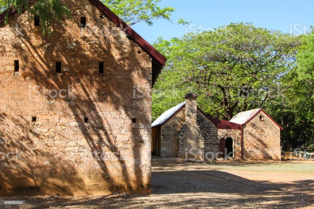 Historical homestead buildings in Katherine stock photo