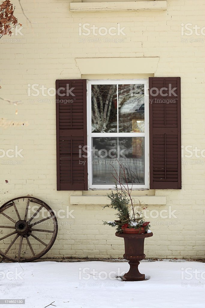 Historical house exterior royalty-free stock photo